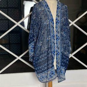 White Blue by Sadie Robertson Sheer Kimono